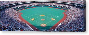 Veteran Stadium, Phyllis V. Astros Canvas Print by Panoramic Images