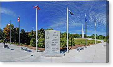 Veterans Freedom Park, Cary Nc. Canvas Print by George Randy Bass