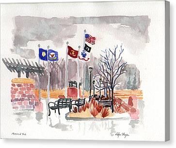 Veteran's Memorial Park Canvas Print