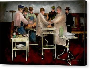 Veterinarian - Saving My Best Friend 1900s Canvas Print by Mike Savad