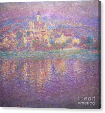 Vetheuil, Sunset, Soleil Couchant, By Claude Monet, Circa 1900,  Canvas Print by Peter Barritt