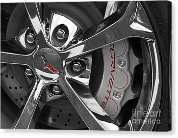 Vette Wheel Canvas Print by Dennis Hedberg