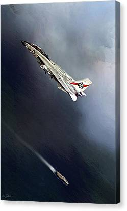 Vf-41 Black Aces Canvas Print by Peter Chilelli