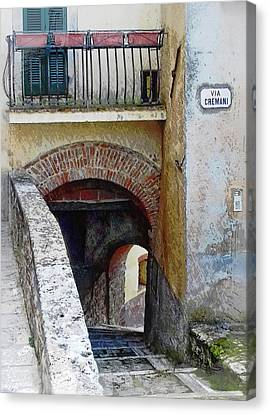 Via Cremani Archways Cetona Tuscany Canvas Print