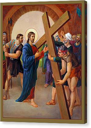 Crucifixion Canvas Print - Via Dolorosa - Jesus Takes Up His Cross - 2 by Svitozar Nenyuk