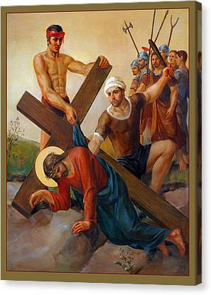 Crucifixion Canvas Print - Via Dolorosa - The Second Fall Of Jesus - 7 by Svitozar Nenyuk