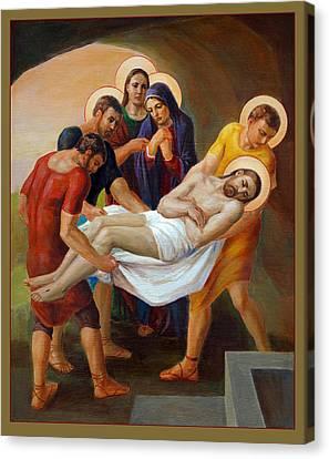 Worship Canvas Print -  Via Dolorosa - The Way Of The Cross - 14 by Svitozar Nenyuk