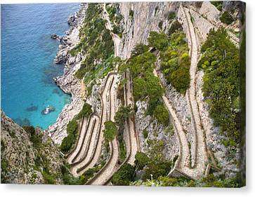 Via Krupp - Capri Canvas Print