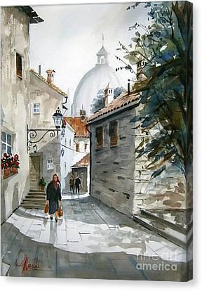 Via Mattina-01 Canvas Print