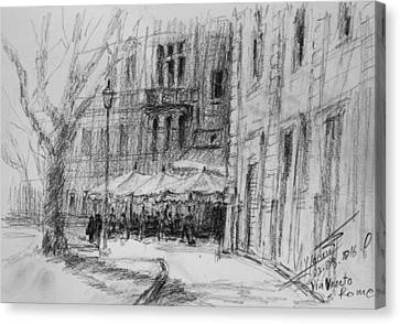 Via Veneto, Rome Canvas Print by Ylli Haruni