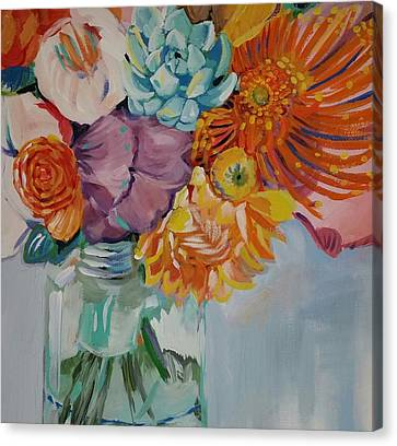 Water Jars Canvas Print - Vibrant  by Anne Seay