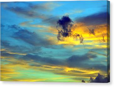 Vibrant Evening Sky Canvas Print