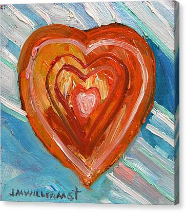 Canvas Print featuring the painting Vibrant Heart by John Williams