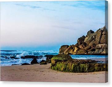 Canvas Print featuring the photograph Vibrant Seascape At Twilight by Marion McCristall