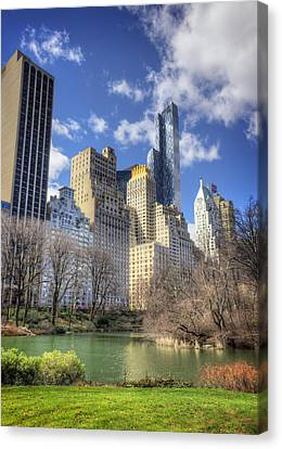 Vibrant Spring In Central Park Canvas Print by Vicki Jauron
