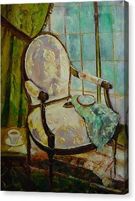 Vibrant Still Life Paintings - Afternoon Repose - Virgilla Art Canvas Print by Virgilla Lammons