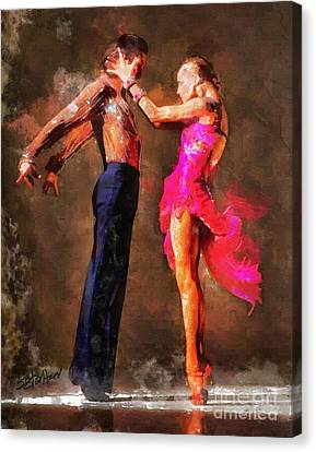 Vibrant Tango Canvas Print by Shirley Stalter