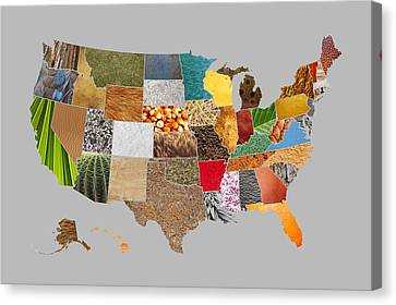 Vibrant Textures Of The United States Canvas Print by Design Turnpike
