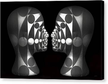 Vibrating Forms Canvas Print by Jeff  Gettis