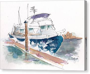 Vic Harbor Boat Canvas Print