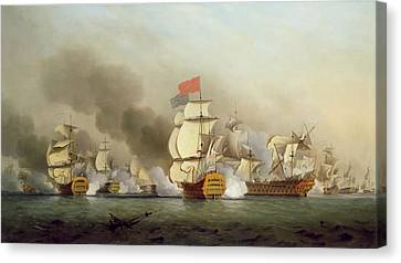 Vice Admiral Sir George Anson's Canvas Print by Samuel Scott
