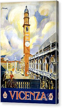 Italian Kitchen Canvas Print - Vicenza Italy Vintage Travel Poster Restored by Carsten Reisinger