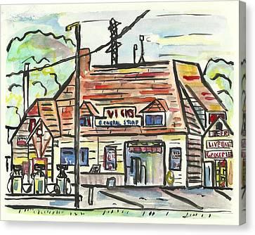 Vick's Corner Canvas Print by Matt Gaudian