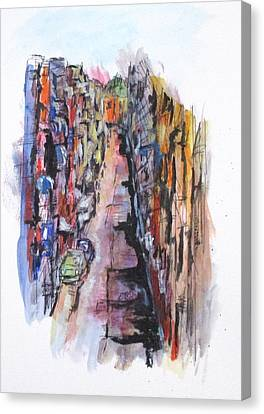 Vicolo De Napoli Canvas Print by Clyde J Kell