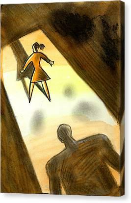 Victim Canvas Print by Leon Zernitsky