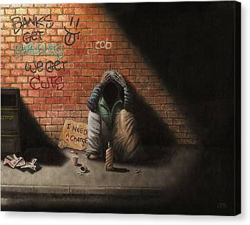 Victim Of Circumstance Canvas Print by Conor O'Brien