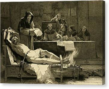 Victim Of The Spanish Inquisition Canvas Print by Everett