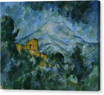 Victoire And Chateau Noir Canvas Print by Paul Cezanne