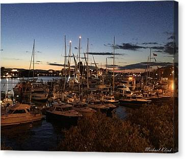 Victoria Bc Harbor At Dusk 3 Canvas Print