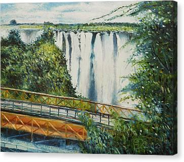 Victoria Falls Zimbabwe 2012 Canvas Print by Enver Larney