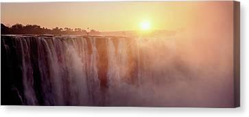 Victoria Falls, Zimbabwe Canvas Print by Ben Cranke