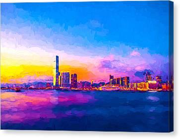 Victoria Harbour, Hong Kong Canvas Print