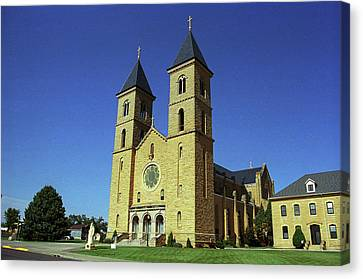 Canvas Print featuring the photograph Victoria, Kansas - Cathedral Of The Plains 6 by Frank Romeo