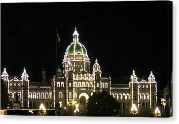 Victoria Legislative Buildings Canvas Print by Betty Buller Whitehead