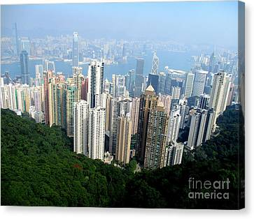Canvas Print featuring the photograph Victoria Peak 1 by Randall Weidner