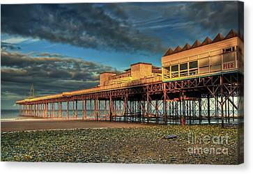 Canvas Print featuring the photograph Victoria Pier 1899 by Adrian Evans