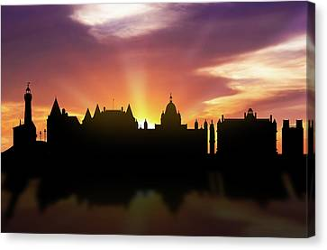 Victoria Skyline Sunset Cabcvi22 Canvas Print