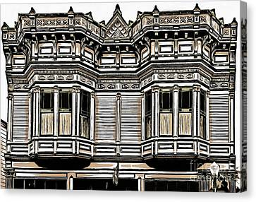 Victorian Architecture Details Canvas Print by Edward Fielding