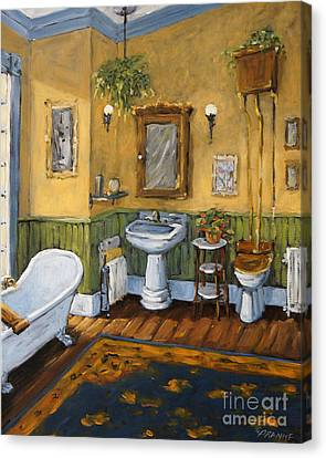 Victorian Bathroom By Prankearts Canvas Print by Richard T Pranke