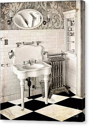 Victorian Bathroom Canvas Print By Mindy Sommers