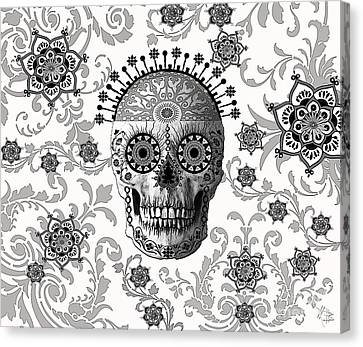 Skull Canvas Print - Victorian Bones by Christopher Beikmann