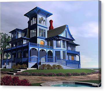 Victorian Cape May Canvas Print by John Pangia
