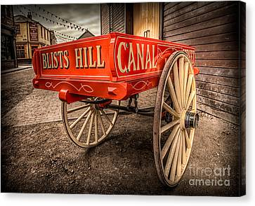 Wagon Wheels Canvas Print - Victorian Cart by Adrian Evans