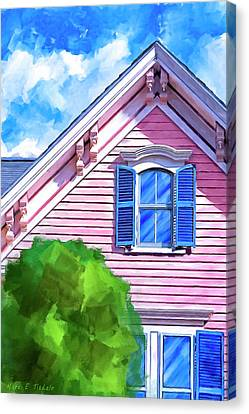 Canvas Print featuring the mixed media Victorian Charm - Classic Architecture by Mark Tisdale