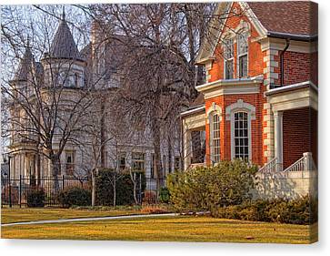 Victorian Era Houses Canvas Print by Utah Images