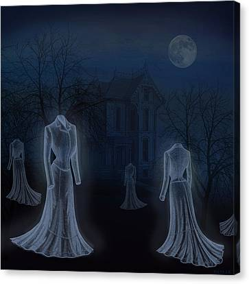 Ghost Story Canvas Print - Victorian Haunt by Little Bunny Sunshine